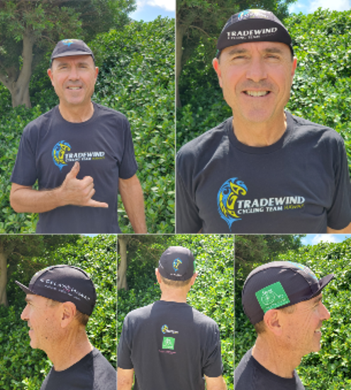 Picture of Tradewind Cycling Team Cap - Black with FREE shipping